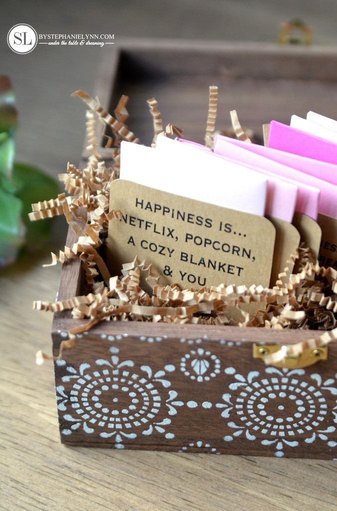Best ideas about Gift Card Ideas For Couples . Save or Pin Date Night Gift Card Box Now.