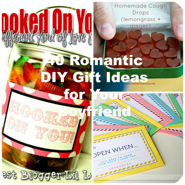 Best ideas about Gift Ideas Boyfriend . Save or Pin 40 Romantic DIY Gift Ideas for Your Boyfriend You Can Make Now.