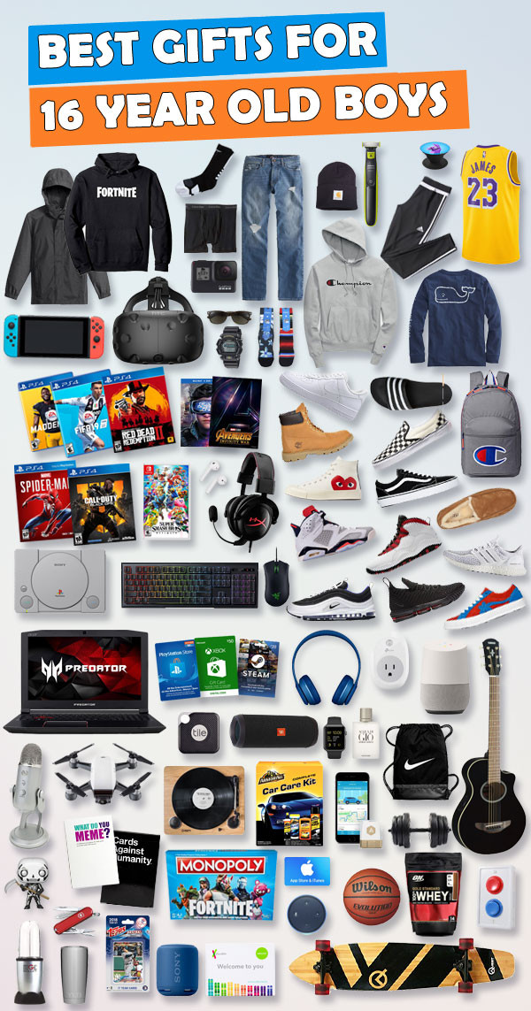Gift Ideas For 16 Year Old Boys  Gifts for 16 Year Old Boys [Hundreds of Choices