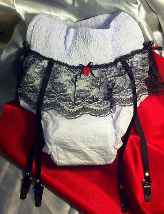 Best ideas about Gift Ideas For 65 Year Old Man . Save or Pin Gag Gift Adult diaper with lace & garter straps Over the Now.