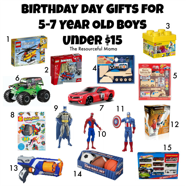 Gift Ideas For 7 Year Old Boys  Birthday Gifts for 5 7 Year Old Boys Under $15 The
