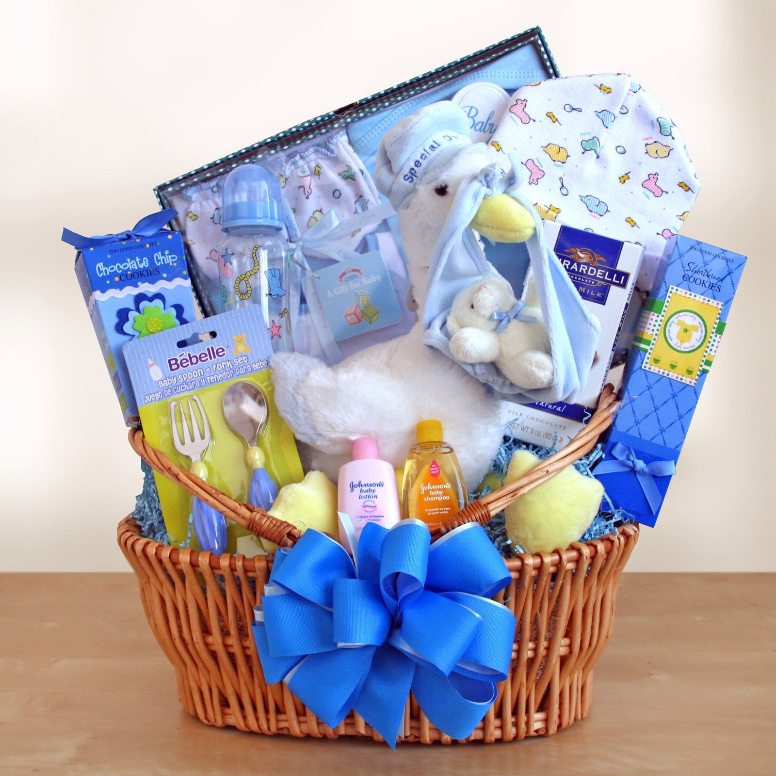 Gift Ideas For Baby  Special Stork Delivery Baby Boy Gift Basket