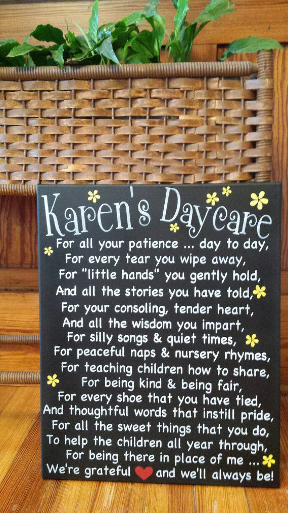 Gift Ideas For Babysitter Daycare Provider  25 best ideas about Daycare provider ts on Pinterest