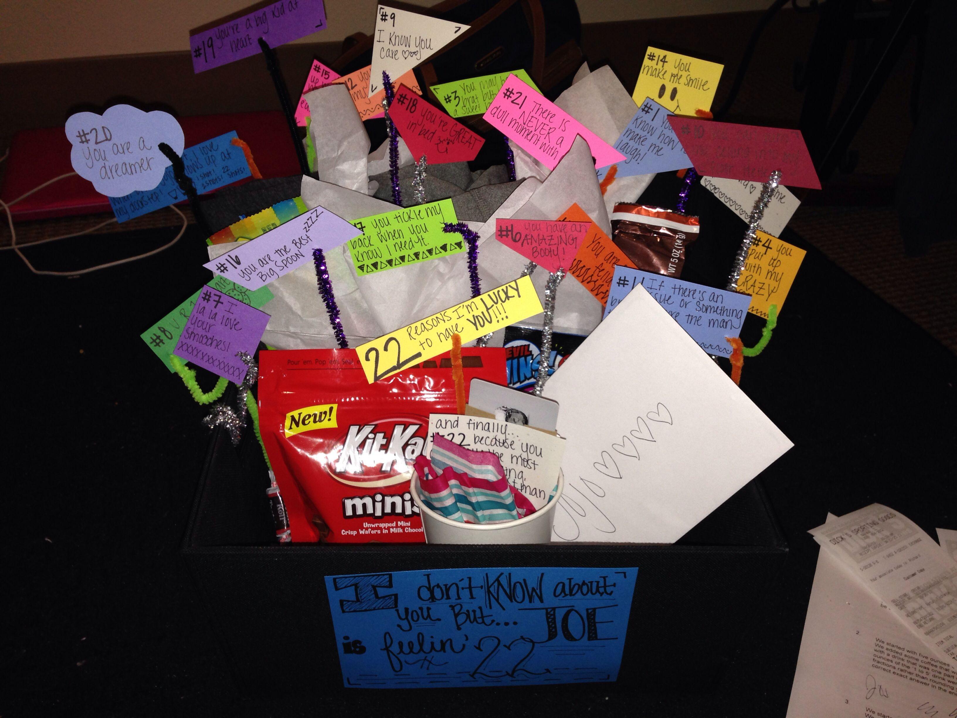 Gift Ideas For Boyfriend Birthday  Birthday present for my boyfriend 22 reasons I m lucky
