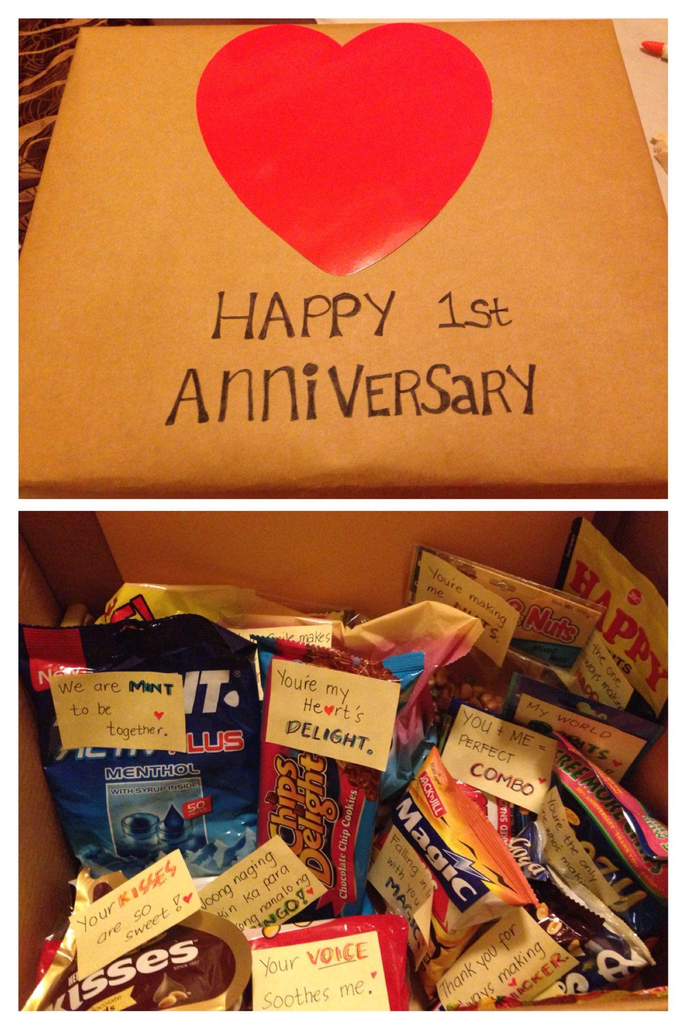 Gift Ideas For Boyfriend Birthday  My First Anniversary Gift to my boyfriend