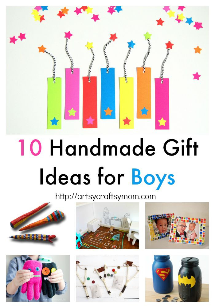 Best ideas about Gift Ideas For Boys 10 . Save or Pin 10 Handmade Gift Ideas for Boys Artsy Craftsy Mom Now.