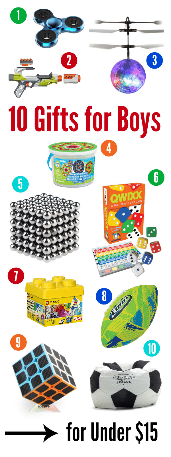 Best ideas about Gift Ideas For Boys 10 . Save or Pin 10 Best Gifts for a 10 Year Old Boy for Under $15 – Fun Now.