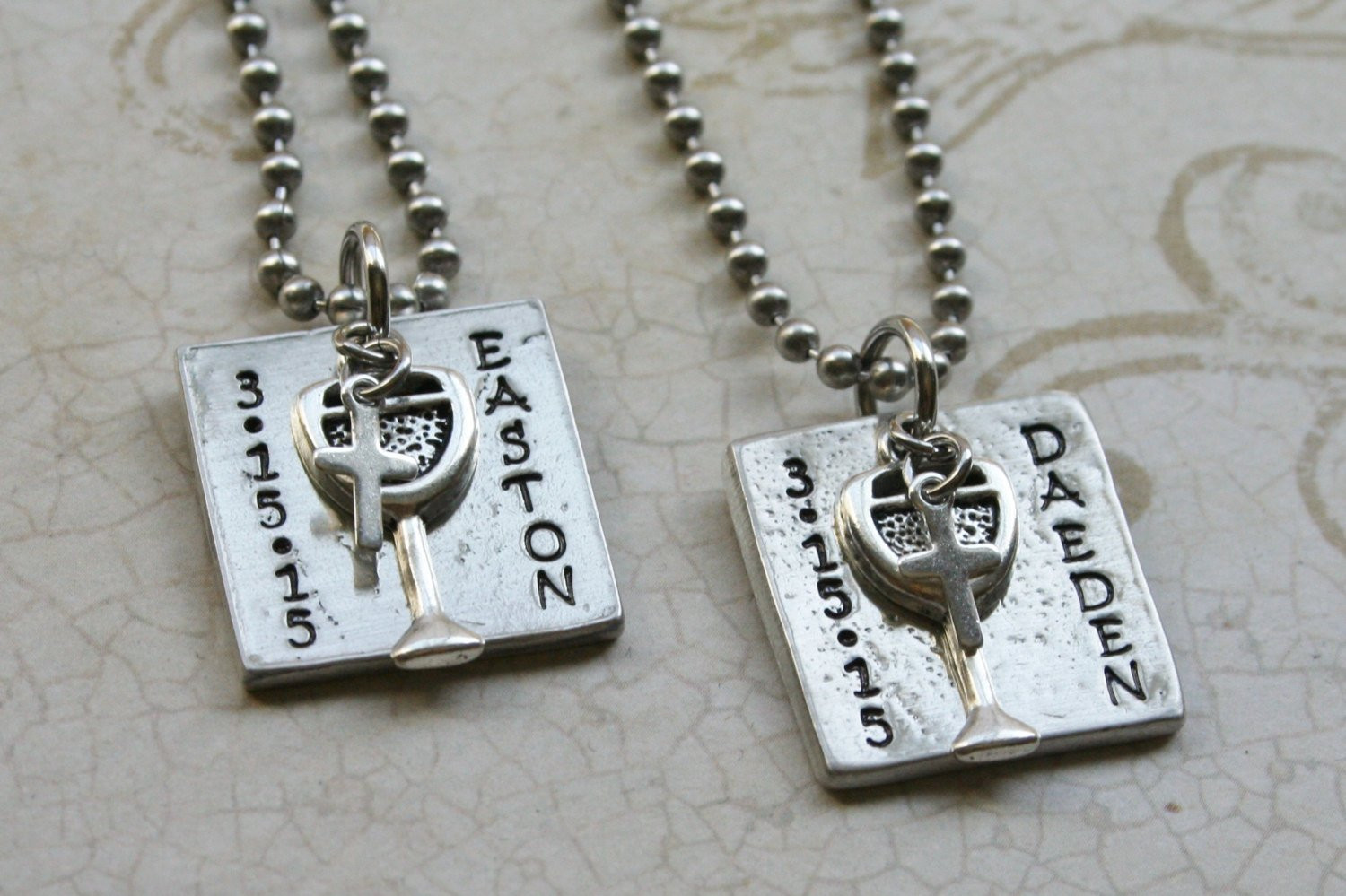 Gift Ideas For Boys 1St Communion  First munion Necklace for Boys Gift First munion