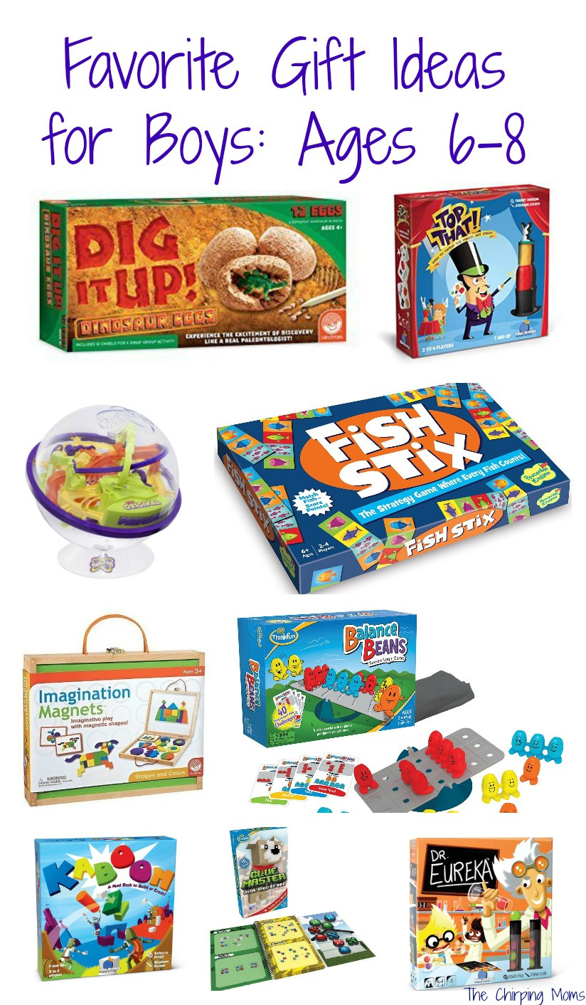 Best ideas about Gift Ideas For Boys Age 5 . Save or Pin 50 Favorite Gift Ideas for Boys Ages 6 8 The Chirping Moms Now.
