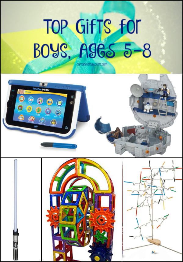 Best ideas about Gift Ideas For Boys Age 5 . Save or Pin Top Gifts for Boys 2015 Ages 5 8 Ginger Casa Now.