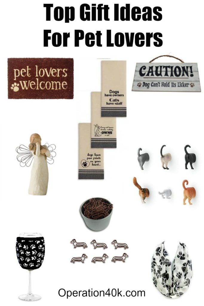 Gift Ideas For Dog Lovers  Top Gift Ideas For Pet Lovers Operation $40K