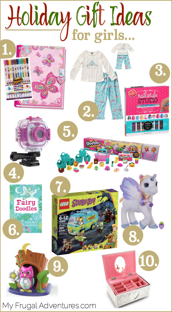 Gift Ideas For Girls Age 12  Holiday Gift Guide for Little Girls Age 5 10 My Frugal