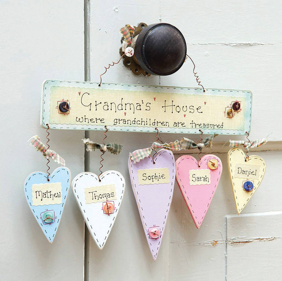 Best ideas about Gift Ideas For Grandmother . Save or Pin personalised grandma s house sign by primitive angel Now.