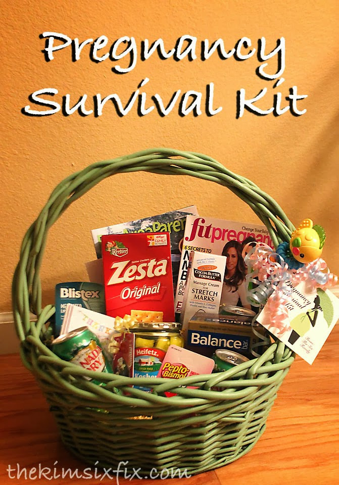 Gift Ideas For Mother To Be  Pregnancy Survival Kit Mom to be Gift Basket The Kim