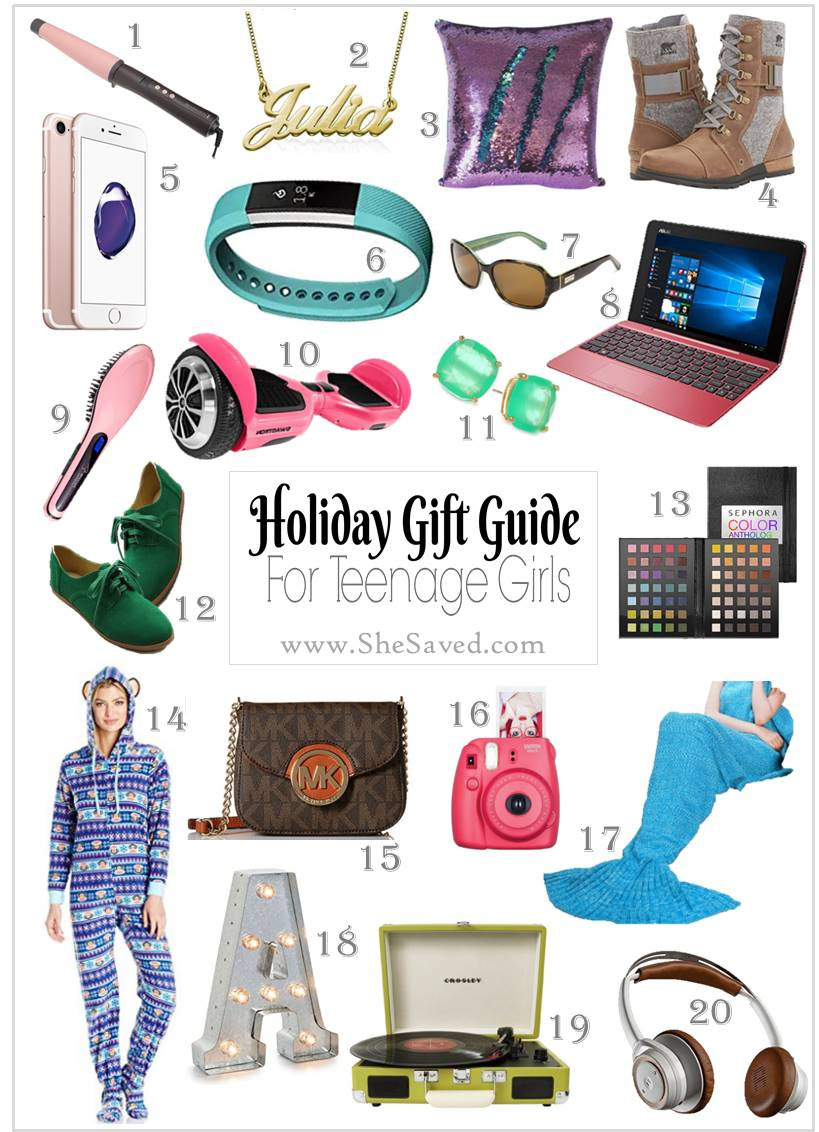 Best ideas about Gift Ideas For Teenage Girls . Save or Pin HOLIDAY GIFT GUIDE Gifts for Teen Girls SheSaved Now.