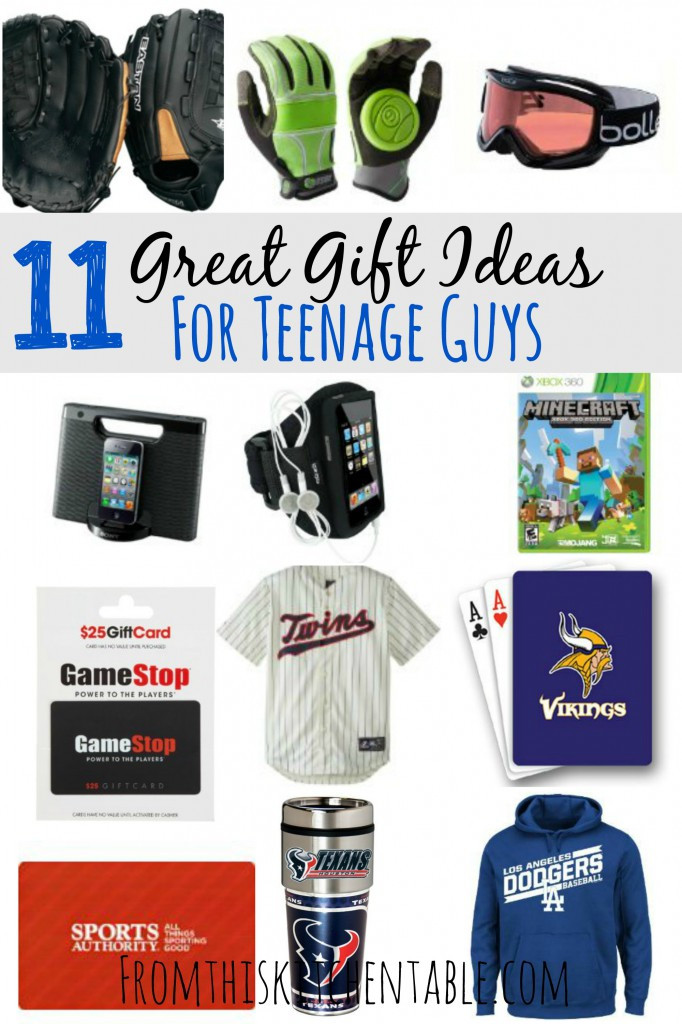 Gift Ideas For Teenager Boys  Gift Ideas for Teenage Boys From This Kitchen Table