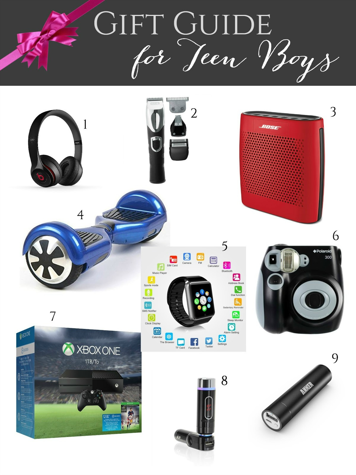 Gift Ideas For Teenager Boys  Gift Guide for Teen Boys Giveaways Galore Evolution