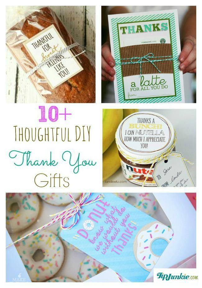 Gift Ideas To Say Thank You  11 Thoughtful DIY Thank You Gifts – Tip Junkie