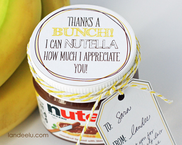 Gift Ideas To Say Thank You  Easy Thank You Gift Idea Bananas and Nutella