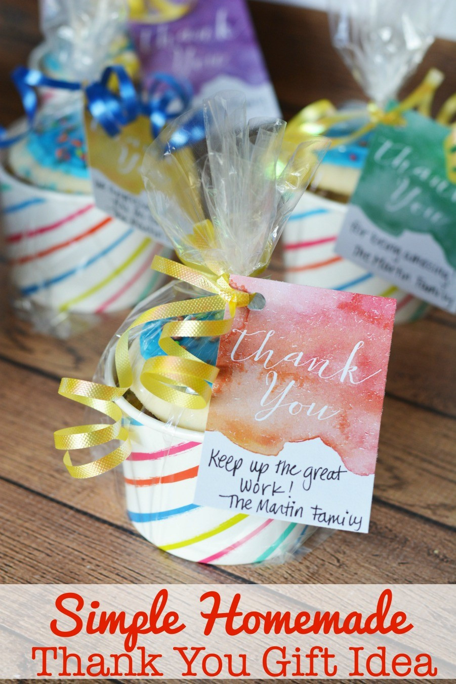 Gift Ideas To Say Thank You  Simple Homemade Thank You Gift Idea Free Printable