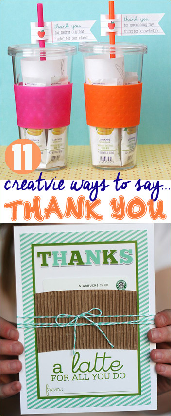 Gift Ideas To Say Thank You  Creative Ways to Say Thank You Paige s Party Ideas