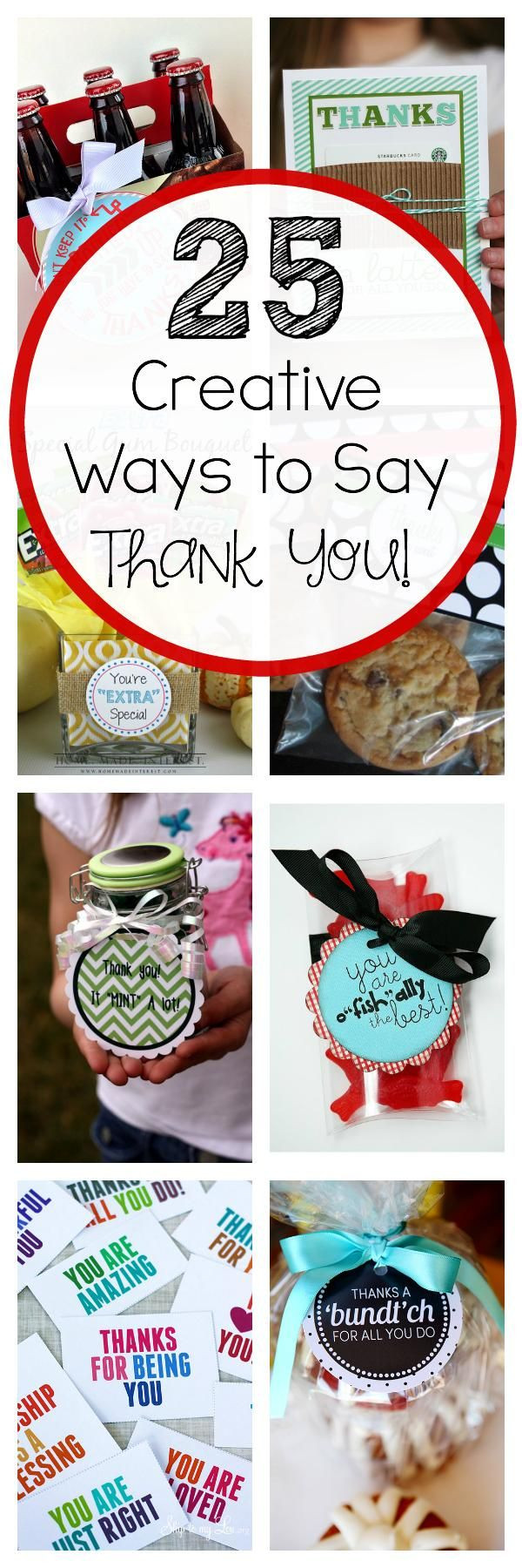 Gift Ideas To Say Thank You  25 Creative Ways to Say Thank You