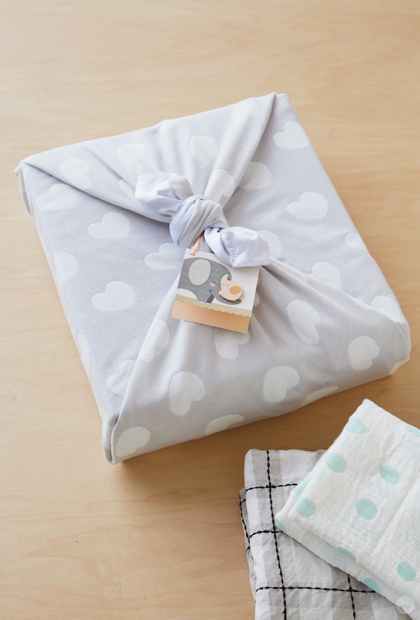 Gift Wrapping Ideas For Baby Boy  Baby t wrap ideas Showered with love Think Make