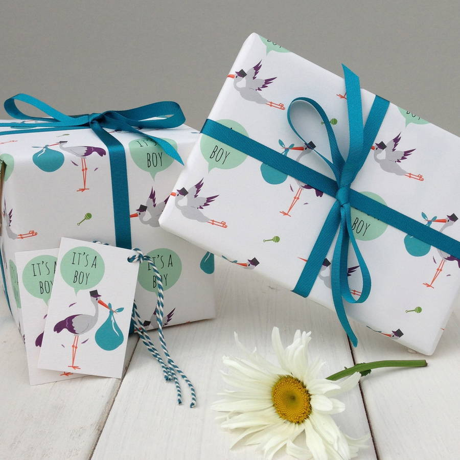 Gift Wrapping Ideas For Baby Boy  new baby boy t wrap by the little blue owl
