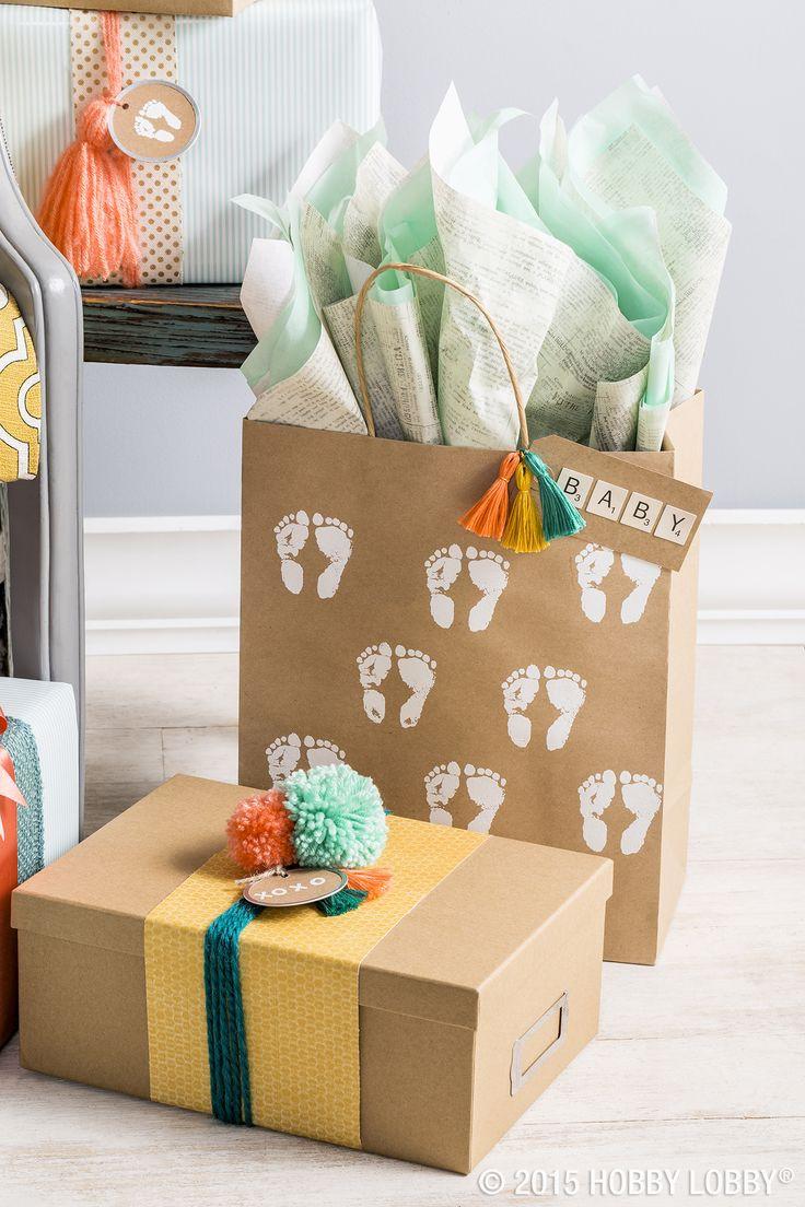 Gift Wrapping Ideas For Baby Boy  16 besten Babygeschenke verpacken Bilder auf Pinterest