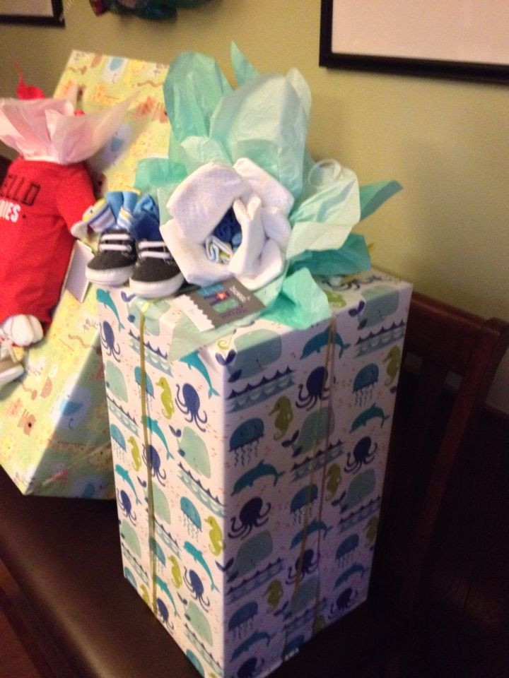 Best ideas about Gift Wrapping Ideas For Baby Showers . Save or Pin Baby Shower Wrapping Ideas Baby Shower Ideas Now.