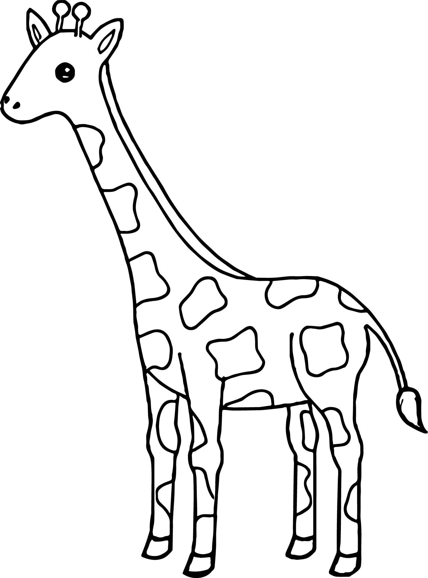 Giraffe Coloring Pages For Kids  coloring pages of giraffes