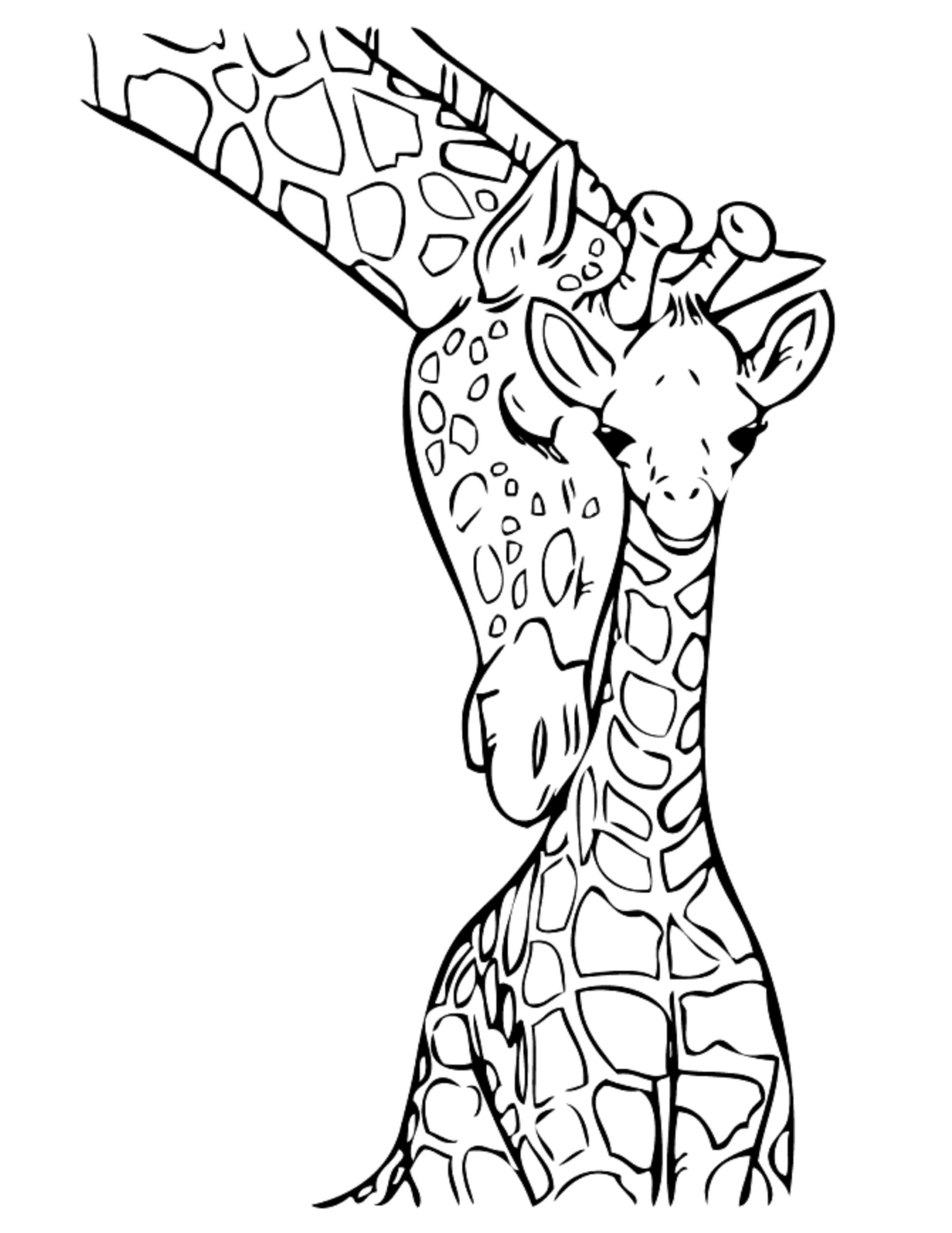 Giraffe Coloring Pages For Kids  Print & Download Giraffe Coloring Pages for Kids to Have Fun