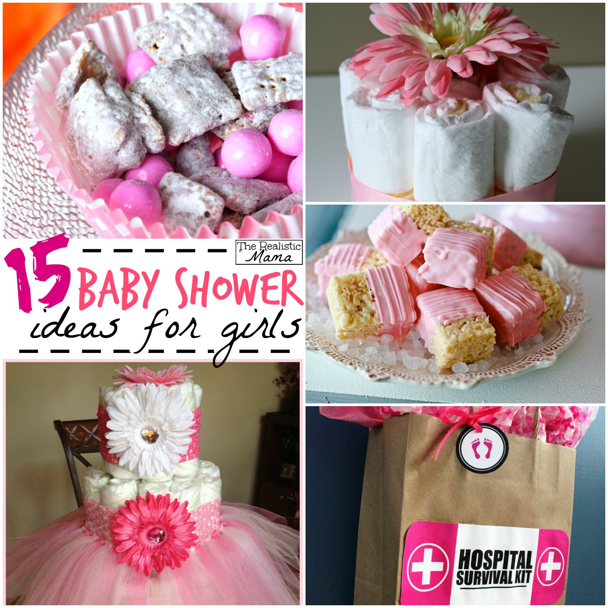 Best ideas about Girl Baby Shower Gift Ideas . Save or Pin 15 Baby Shower Ideas for Girls The Realistic Mama Now.