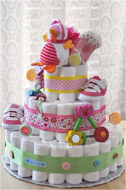 Best ideas about Girl Baby Shower Gift Ideas . Save or Pin Funny baby shower t ideas How to make a 3 layer DIY Now.