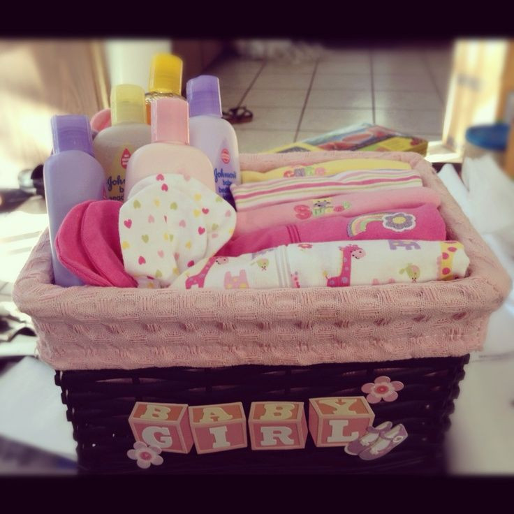 Best ideas about Girl Baby Shower Gift Ideas . Save or Pin Homemade DIY t basket baby shower for girls Now.