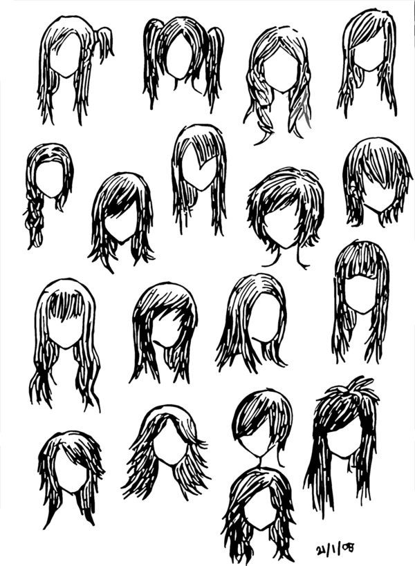 Girl Hairstyles Anime  Girl Hairstyles by DNA lily on DeviantArt