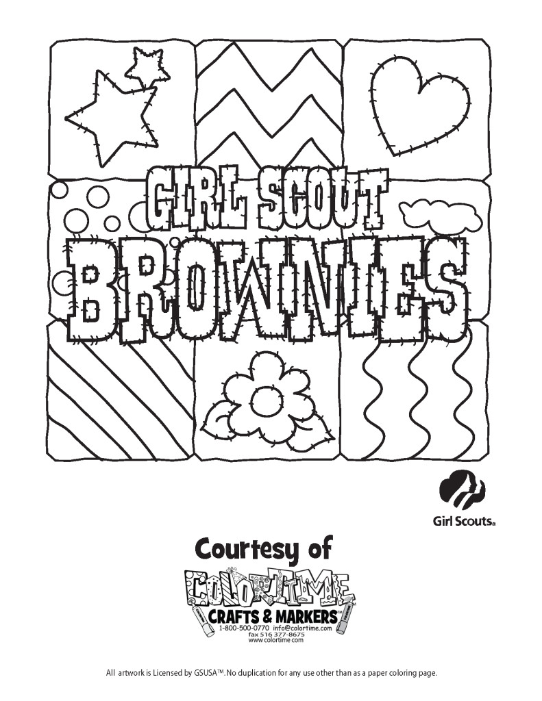 Girl Scout Printable Coloring Pages  free printable girl scout coloring pages printable