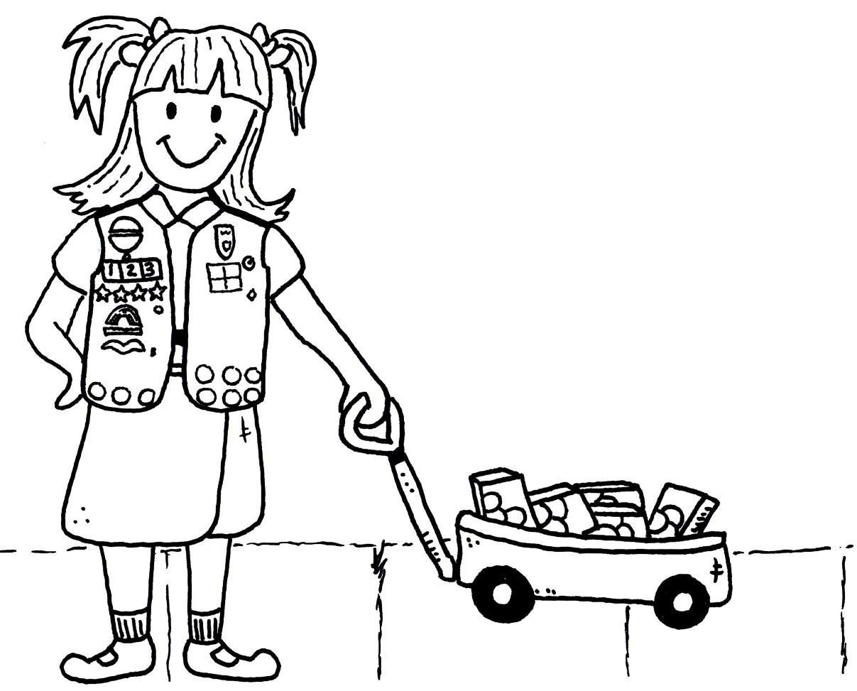 Girl Scout Printable Coloring Pages  Free Daisy Girl Scout Promise Coloring Pages Printable