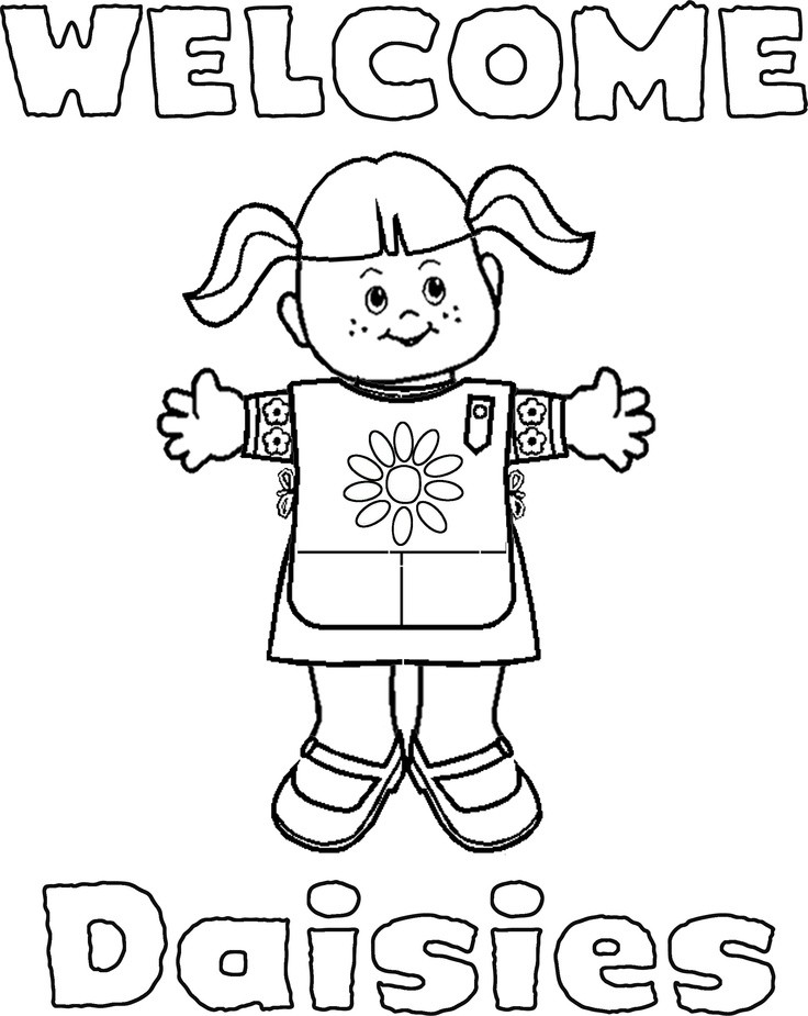 Girl Scout Printable Coloring Pages  Girl Scouts Coloring Pages AZ Coloring Pages