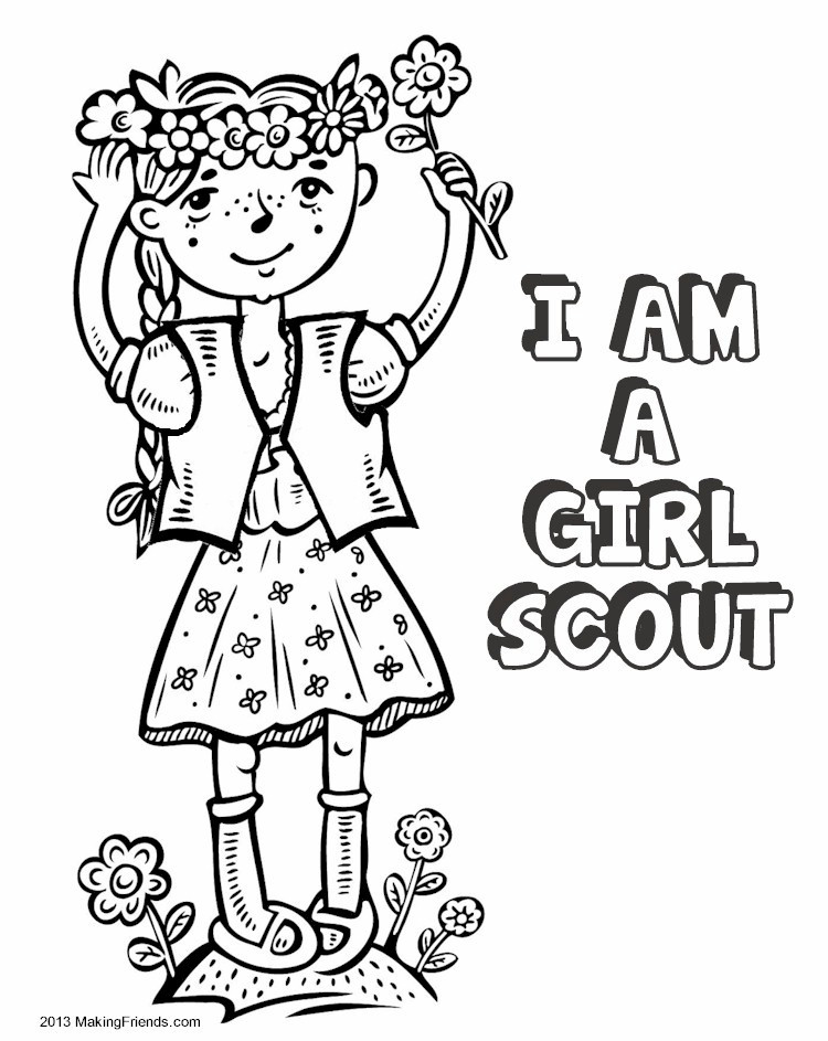 Girl Scout Printable Coloring Pages  Girl Scout Coloring Sheets Girl Scout Cookie Coloring