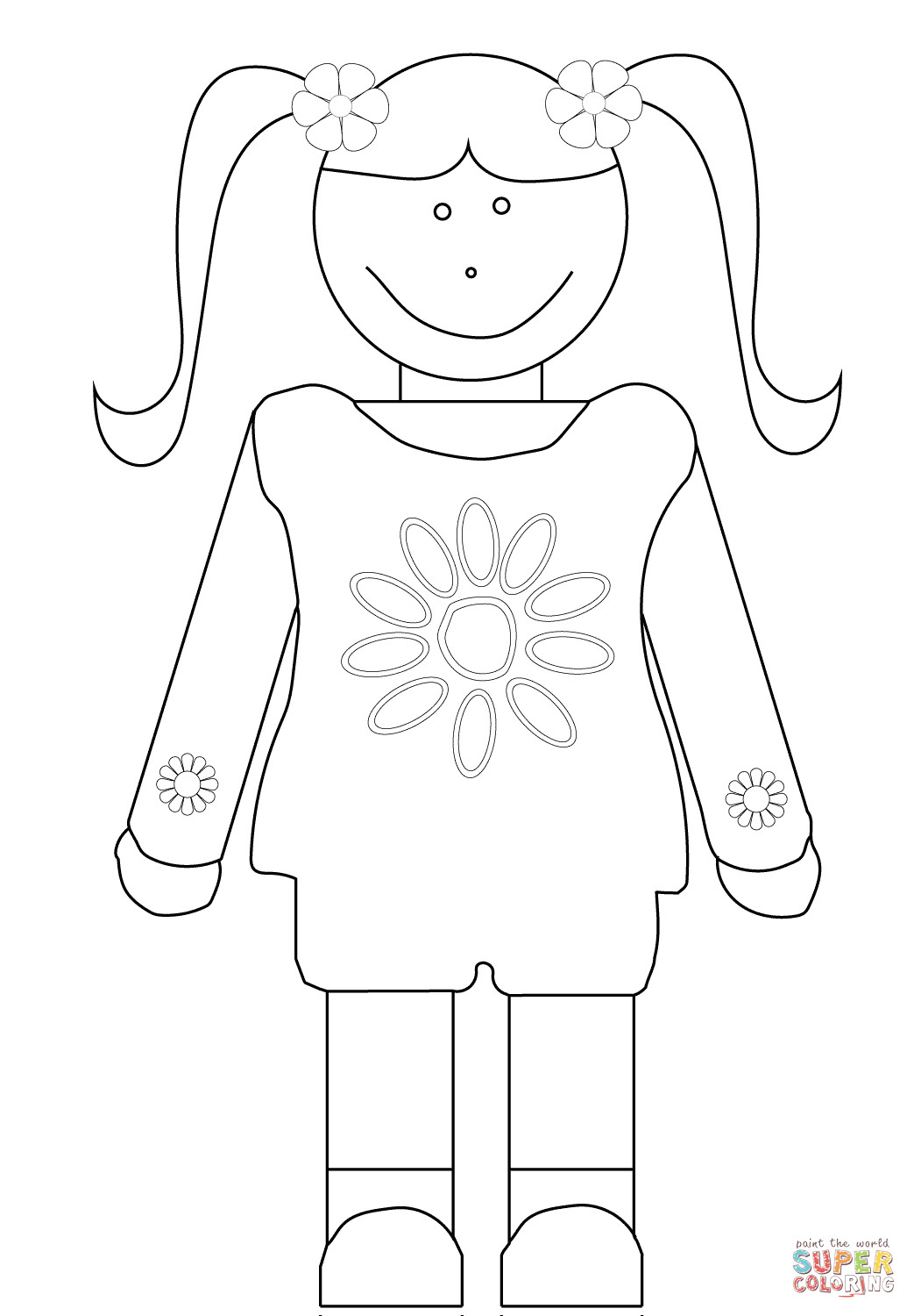 Girl Scout Printable Coloring Pages  daisy girl scout coloring sheets free