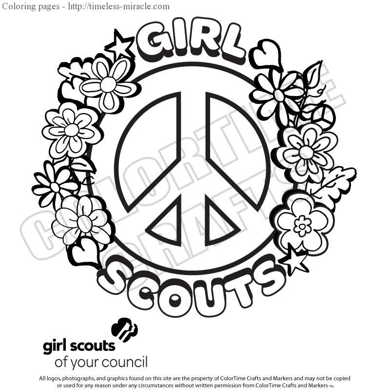 Girl Scout Printable Coloring Pages  Coloring pages for girl scouts timeless miracle