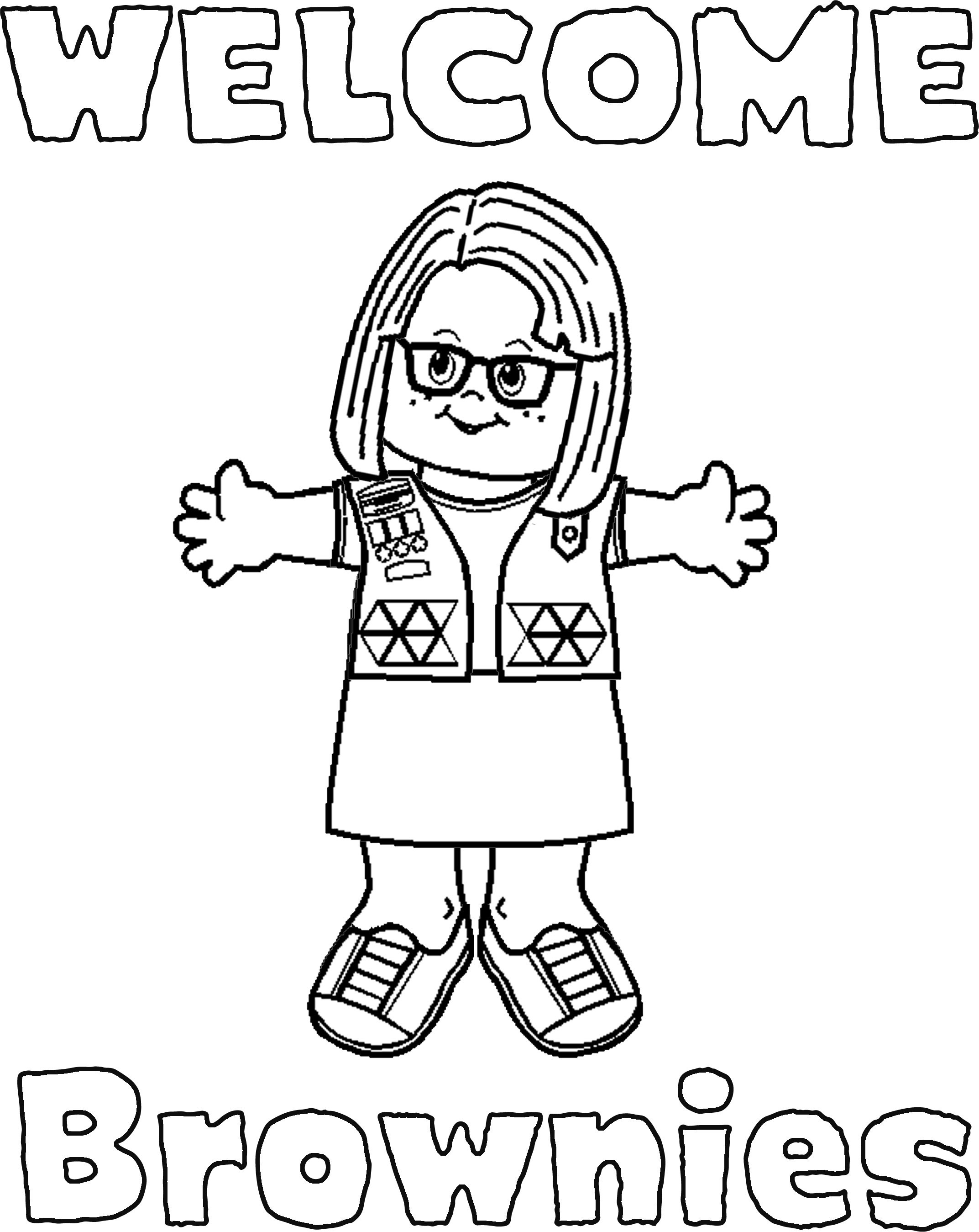 Girl Scout Printable Coloring Pages  Girl Scout Brownie Coloring Pages Bestofcoloring