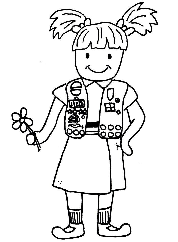 Girl Scout Printable Coloring Pages  Daisy Girl Scouts Coloring Pages Coloring Home