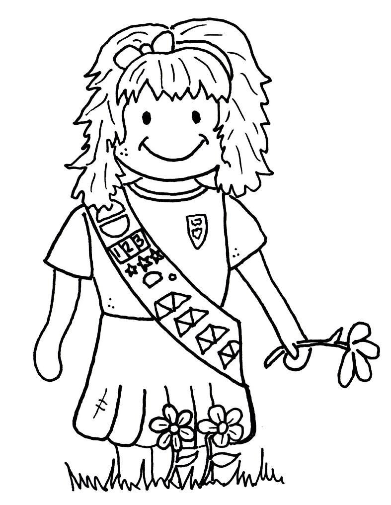 Girl Scout Printable Coloring Pages  Girl Scout Brownies Coloring Pages AZ Coloring Pages