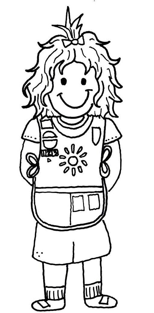 Girl Scout Printable Coloring Pages  Girl Scout Coloring Pages Bestofcoloring