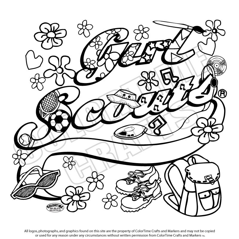 Girl Scout Printable Coloring Pages  Girl Scouts Coloring Pages Coloring Home