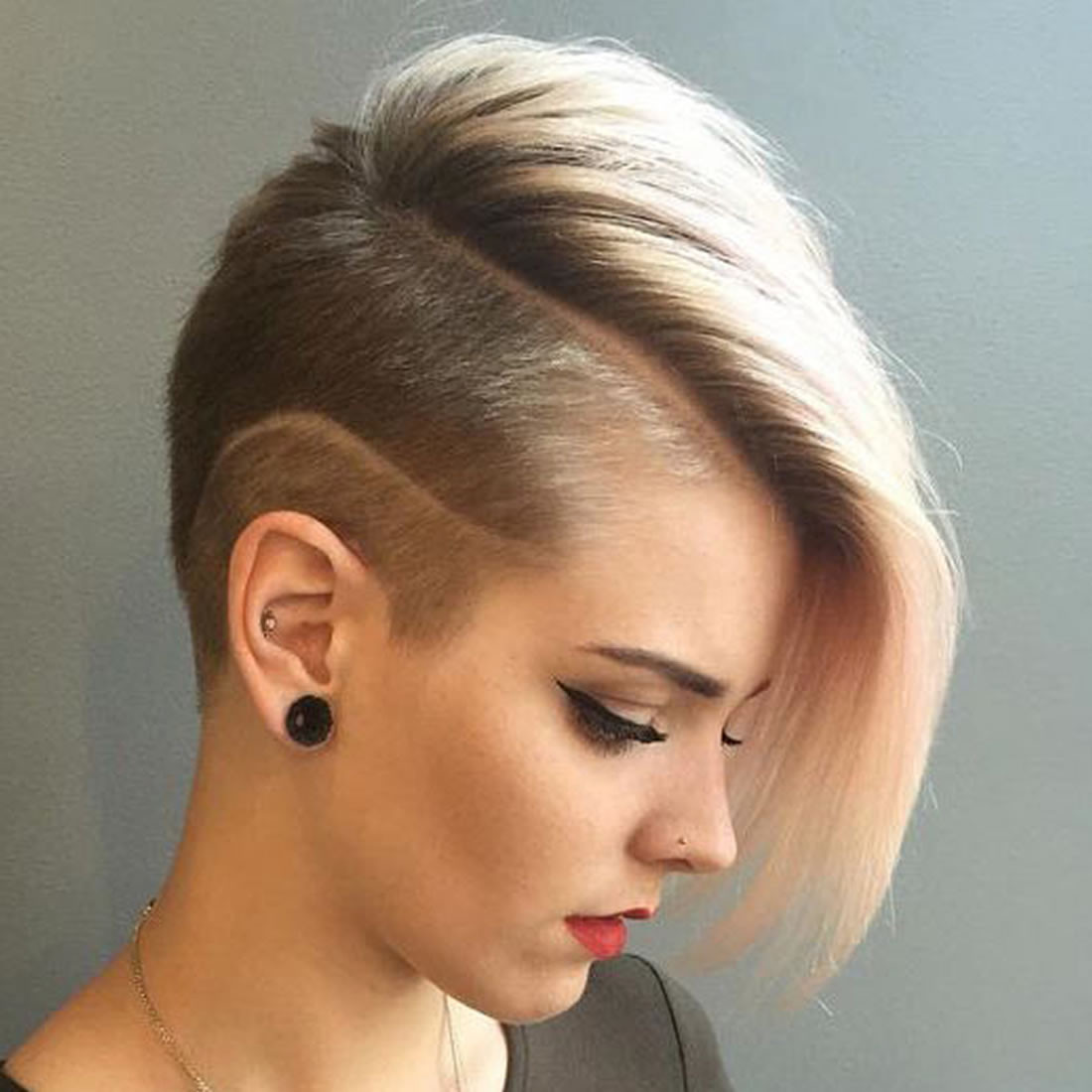 Best ideas about Girl Undercut Hairstyle . Save or Pin 2018 Undercut Short Bob Hairstyles and Haircuts for Women Now.