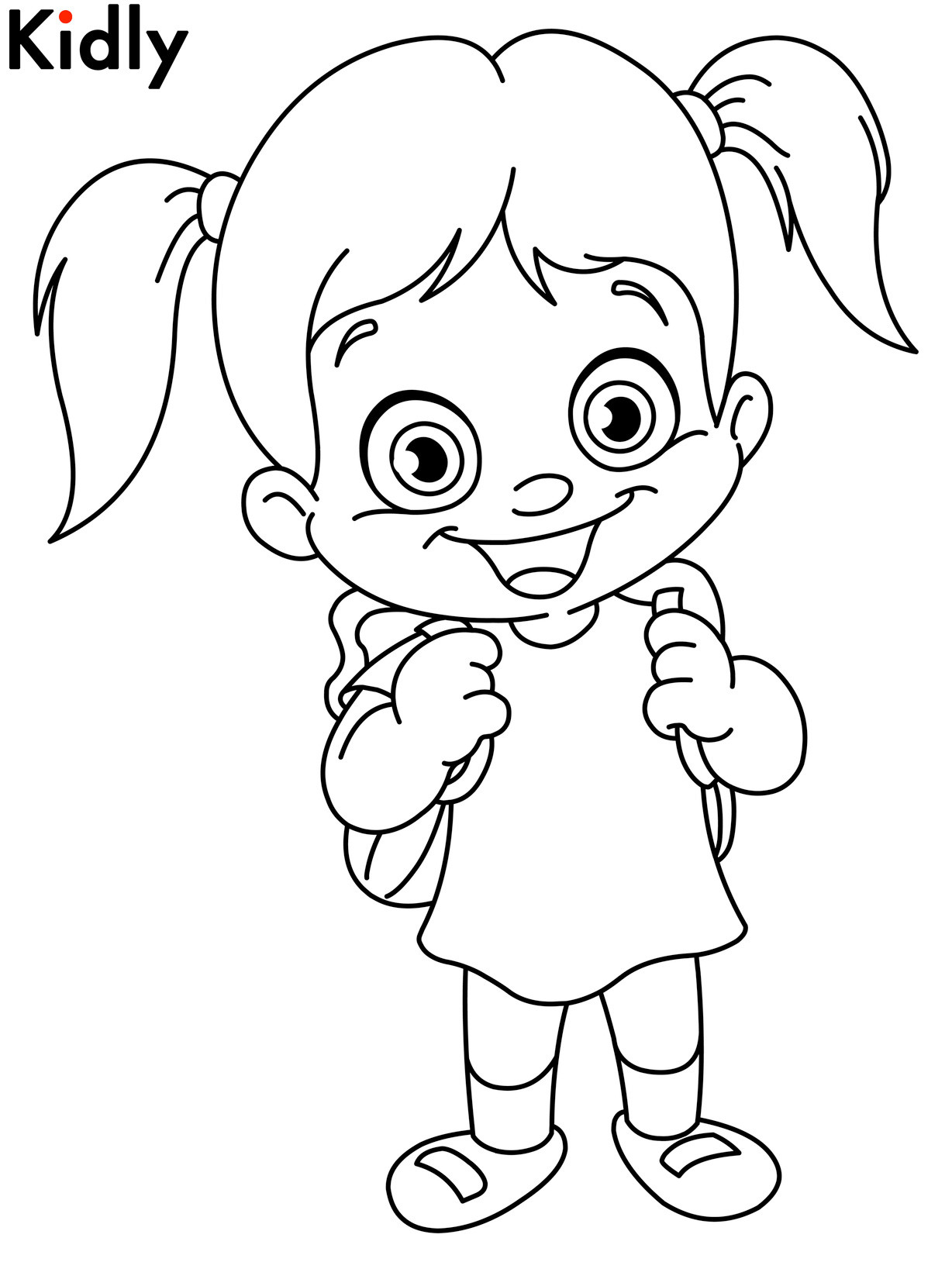 Girls Coloring Pages For Kids  Childrens Day Coloring Pages