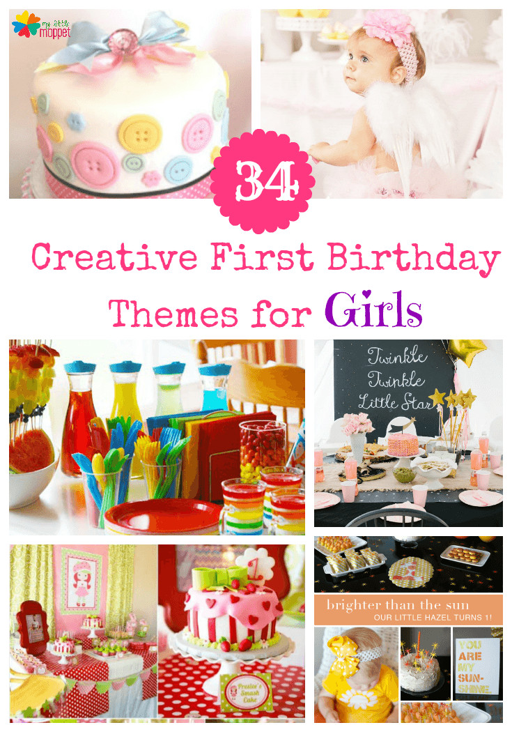 Girls First Birthday Gift Ideas  34 Creative Girl First Birthday Party Themes and Ideas